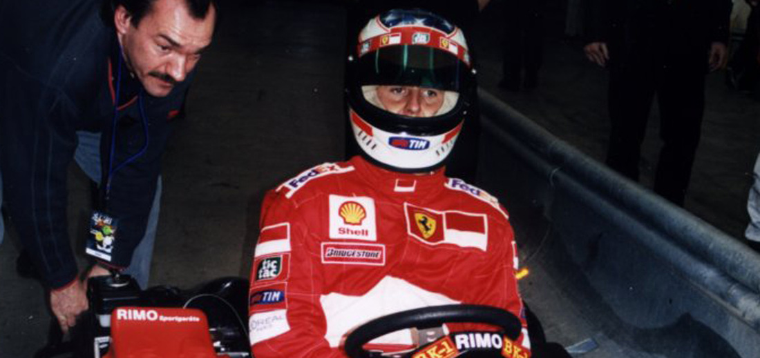 Micheal Schumacher iin a RiMO BK1 go-kart from 2000